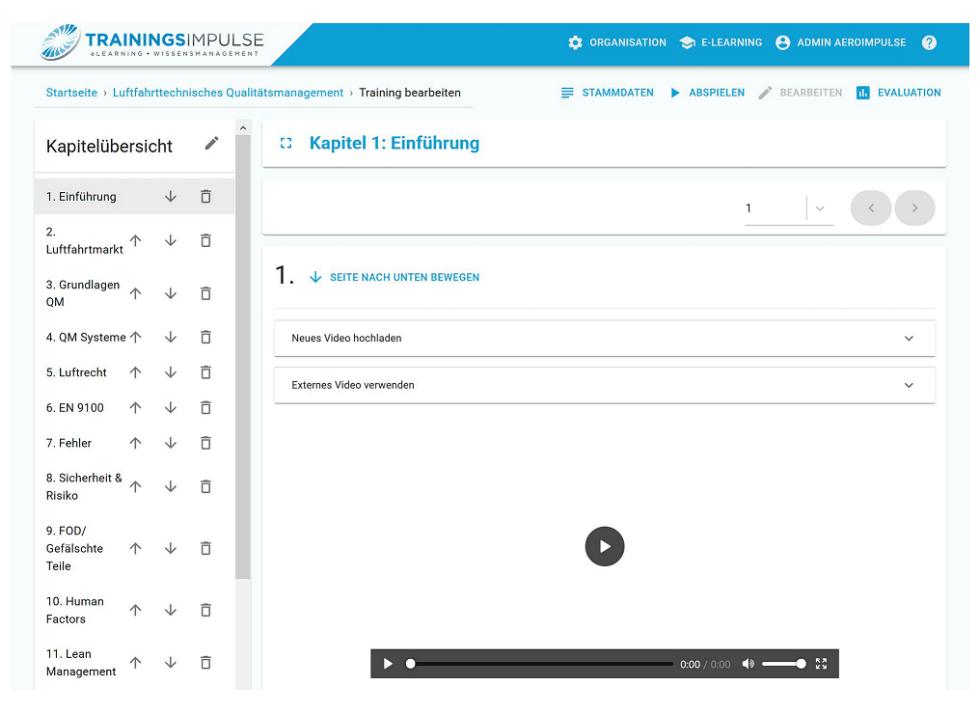 Learning platform TrainingsImpulse Course creation